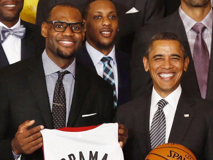 Lebron James et Barack Obama a la maison blanche
